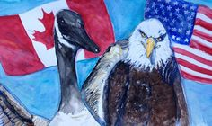 Good Neighbours - Out of Darkness: Diane Beatty Good Neighbor, Watercolor Print, Eagles, Bald Eagle, Darkness, My Arts, Birds, Prints, Painting
