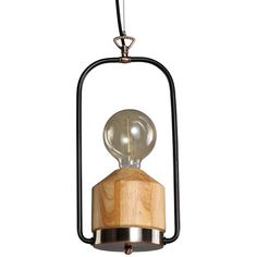 This original suspended luminaire is made in the style of a portable miner's lamps. The luminaire will charm you by combination of the framed metal with aged brass finish, with genuine wooden foundation. Fully open on all sides, this retro-style luminaire will ensure excellent light dispersion. You can emphasize the vintage nature of this suspended luminaire by fitting it out with a decorative thread filament Edison LED bulb. Click to shop for yours.