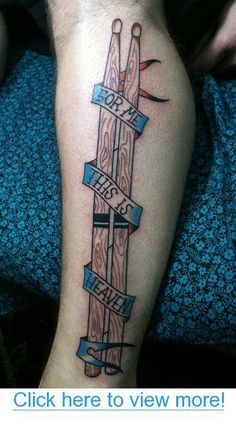 Tattoo$lt;3 For Me This Is Heaven By Carlos Rojas at Goldfields Tattoo in San Francisco.?This shows my love for drumming and Jimmy Eat World.?? Tattoo~