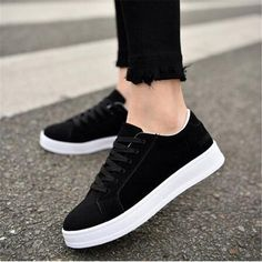 Breathable Woman casual shoes Lacing flat bottom Sneakers Women New Fashion Spring summer Platform shoes women Shop Our Huge Selection of Clothing in a Large Variety of Styles & Colors. Moda Sneakers, Sneakers Mode, Shoes Sneakers, Casual Sneakers, Sneakers Workout, Beige Sneakers, Black Casual Shoes, Colorful Sneakers, Girls Sneakers