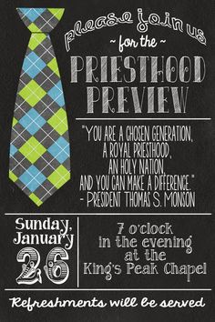 Priesthood Preview, Announcements, Invitations, Priesthood Preview Invite, LDS, {Vintage Lace Designs} Baptism and Priesthood Preview