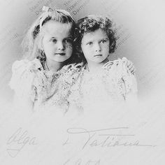 Olga and Tatiana 1900. I love how you can see Tatiana's gorgeous deep grey eyes in this.  #OTMA #OTMAA #naotmaa #russia #romanov #royalty #history #vintage #sisters #girls #monarchy #victorian #olganikolaevna #tatiananikolaevna #imperialrussia #russiangirl #русский #романовы by naotmaaromanov
