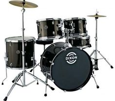 Dixon Riot PODRT522BK 5Piece Drum Set Black * Check out the image by visiting the link.Note:It is affiliate link to Amazon.
