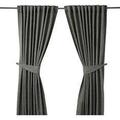 BLEKVIVA Curtains with tie-backs, 1 pair ($2) via Polyvore