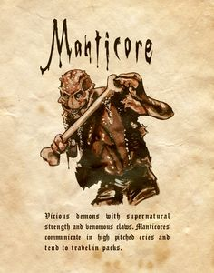 """""""Manticore"""" - Charmed - Book of Shadows"""