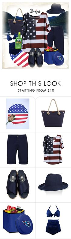 """rosegal 4th at the lake with the family"" by caroline-buster-brown ❤ liked on Polyvore featuring MICHAEL Michael Kors, Miu Miu, Eugenia Kim, Picnic Time and plus size clothing"