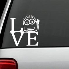 A1158 Minion Love Despicable Me Decal Sticker by BluegrassDecals