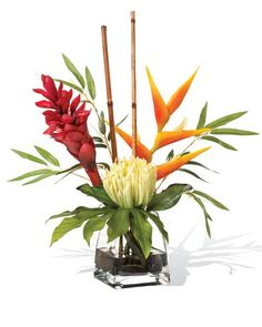 12 best silk flower arrangements images on pinterest silk floral our lifelike protea torch ginger artificial flower designs lends permanent natural island beauty to your home and office only at officescapesdirect mightylinksfo
