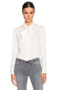 Image 1 of FRAME Denim Le Bow Tie Top in Gardena