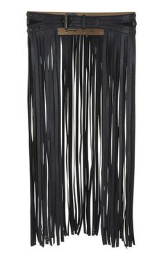 An easy way to edge-up and otherwise sweet outfit a-line dress. LOVE! #naughty Long Fringe-Skirt Waist Belt