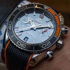 Omega Seamaster Planet Ocean Master Chronometer Chronograph Watches Hands-On - by Ariel Adams Men's Watches, Fine Watches, Cool Watches, Fashion Watches, Watches Online, Sport Watches, Omega Seamaster Planet Ocean, Stylish Watches, Luxury Watches For Men