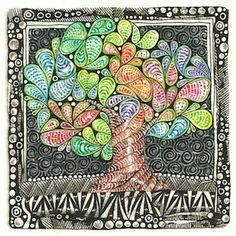 (c)2014 Margaret Bremner; enthusiasticartist.blogspot.com Tangles: Paisley Boa, Printemps, Punzel, Tipple, Zedbra