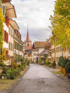 Murten. Kanton Freiburg. Schweiz.