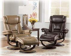 Leather Chair and Ottoman in 2 Colors. Your Choice $499! Includes Chair and Ottoman. Great for Christmas!