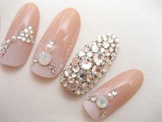Nudy gradient Bridal blink nail by ohimenail on Etsy, $28.00