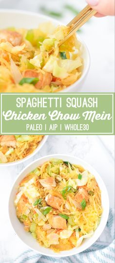 Growing up my family was all obsessed with Chinese takeout! We often had it as our Friday night easy meal or would dine in on a lazy weekend. It didnt matter if we lived on Long Island San Antonio or Dallas a new Chinese favorite was always found. Whole 30 Spaghetti Squash, Chicken Spaghetti Squash, Spaghetti Squash Recipes, Long Island, San Antonio, Paleo Whole 30, Whole 30 Recipes, Chow Mein Au Poulet, Cena Paleo