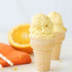 Homemade Orange Creamsicle Ice Cream #citrussplash