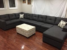 Double Chaise U Shape Sectional 1500 84 Inches By 144
