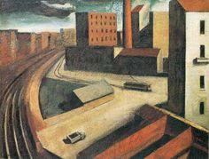 MARIO SIRONI, 20's, pittura metafisica
