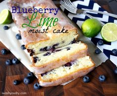 Blueberry Lime Moist Cake from I Wash, You Dry