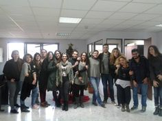 With our students!