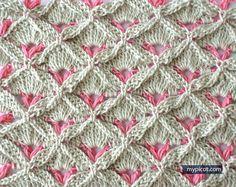 Crochet textured stitch -- MyPicot | Free crochet patterns