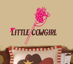 Kids Room LITTLE CoWBoY or CoWgirl Stick Horse by TheBabyDolls, $26.00