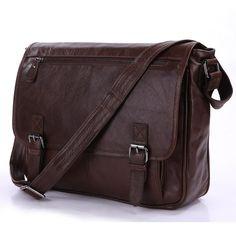 """Vintage Leather Messenger Bag / Satchel / 12"""" Laptop 11"""" 13"""" MacBook Bag"""