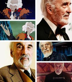"""The Last Unicorn"" live action fancast: Christopher Lee as King Haggard (courtesy of theboyfallsfromthesky.tumblr.com)"
