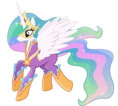 Princess Celestia as a Power Pony by 90Sigma.deviantart.com on @DeviantArt