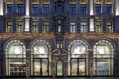 Apple Store Regent Street opening hours, contact information and weekly calendar of events. Regent Street, Apple Uk, Apple Store, Apple Launch, Facade Lighting, Shopping Street, Covent Garden, Store Fronts, Visual Merchandising