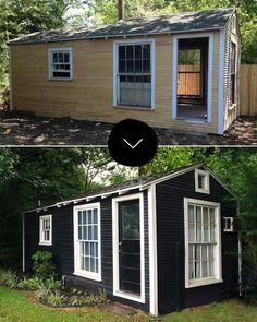 Design*Sponge   Paige Morse makes over her backyard 'feral sheds'