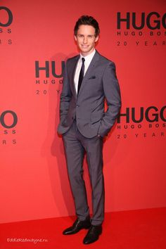 Eddie Redmayne at Hugo Boss Fashion Show Jan 17 2013
