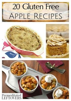 20 Gluten Free Apple Recipes- These gluten free recipes bring apples to your breakfast, lunch, dinner, or desserts in delicious treats that everyone will enjoy.