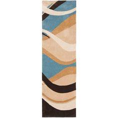 Safavieh Modern Art Blue/Brown 2 ft. 6 in. x 12 ft. Runner-MDA617A-212 - The Home Depot