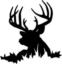 Deer Buck Decal STF#12 Window Graphic, Whitetail Vinyl Hunting Stickers*vector*