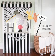 DIY Puppet Theater with Interchangeable Backgrounds - The Alison Show