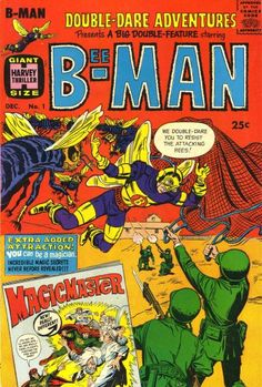 """Double-Dare Adventures #1  Harvey Thrillers  """"You Can Be A Magician"""" Character profile of Magicmaster (Shamarah.)  """"The Secret of Magicmaster""""  Comic book art by Jack Sparling.  Margicman, created by Jim Steranko for Joe Simon, original called Sorcerer."""