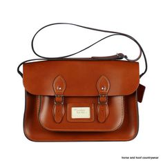 Traditional Hand Crafted British Vintage Leather Satchel - Classic London Tan Our 14-inch satchel perfectly fits all styles of 13-inch MacBook