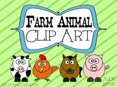 *Farm Animal Clip Art Freebie*