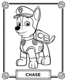 coloriages la pat patrouille, puzzle, activité dans coloriages héros coloriage-pat-patrouille-chase