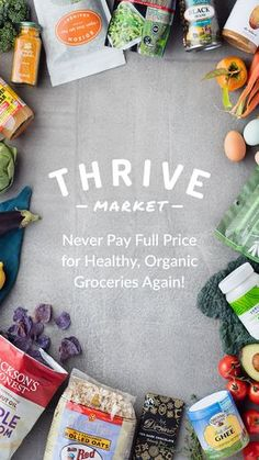 Thrive Market brings its organic grocery store to Android - Delivery Food - Ideas of Delivery Food - A company tapping into consumers' growing desire for healthier food and organic products Thrive Market is today bringing its online grocery store to. Healthy Food Options, Healthy Recipes, Top Recipes, Kumquat Confit, Benefits Of Organic Food, Online Grocery Store, Healthy Food Delivery, Delivery Food, Apple Smoothies