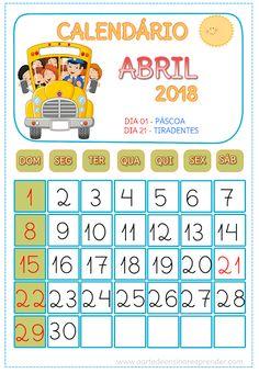 Calendário ABRIL 2018