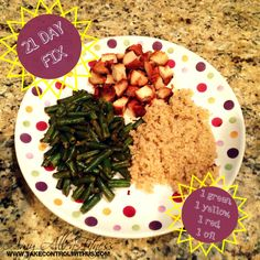 21 day fix - chicken, green beans and quinoa