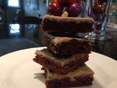 These homemade molasses bar cookies are like brownies, made with molasses & spices, perfect for the holiday season. #holidaycookies