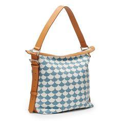 Lillephant SMALL Messenger bag - Waves - Blue/grey