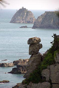 Stone Tower, Igidae Park, Busan, South Korea