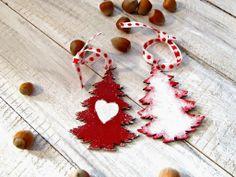 ozdoby choinkowe hand made styl schabby chic by Eco Manufaktura christmas decor Christmas Crafts, Christmas Decorations, Xmas, Christmas Ornaments, Holiday Decor, Crochet Earrings, Shabby Chic, Drop Earrings, Dom