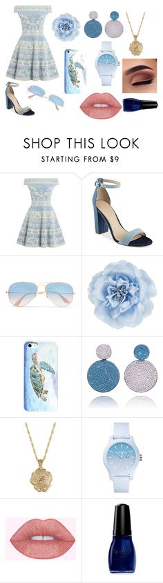 """Date Night"" by hot-desighner-girl ❤ liked on Polyvore featuring Alexander McQueen, GUESS, Ray-Ban, Monsoon, 2028, Lacoste, Wet n Wild and DateNight"