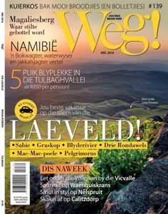 Weg! May 2016 digital magazine - Read the digital edition by Magzter on your iPad, iPhone, Android, Tablet Devices, Windows 8, PC, Mac and the Web.